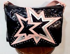 NICOLE LEE ~ Abia Fallen Star Messenger Bag / Handbag ~ RARE Black & Pink ~ NEW! #NicoleLee #MessengerCrossBody