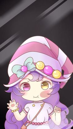 Chibi Lulu lock screen wallpaper