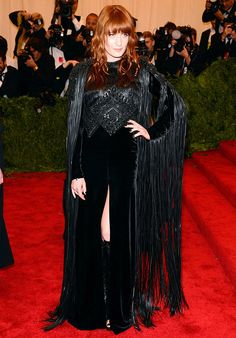 Florence Welch in Givenchy Haute Couture on the red carpet of the Met Ball