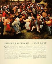1941 Ad Bruegel Wedding Dance Lakeside Press Donnelley #rrdonnelley #printer