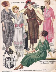 Kittyinva: 1920 Charles Williams catalog of spring and summer clothing.