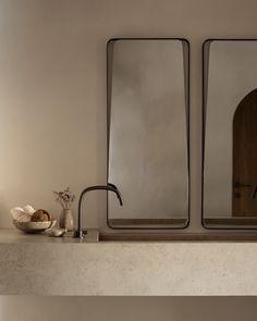 Modern bathroom design 291537775878373461 - Vora Villas in Santorini, Greece by K-Studio Bathroom Inspiration, House Interior, Rustic Bathroom, Rustic Home Interiors, Bathroom Interior Design, Bathroom Decor, Bathroom Fixtures, Santorini Villas, Modern Bathroom Design