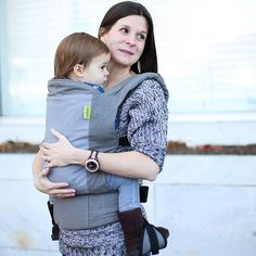 Our Original Soft-Structured Baby Carrier is designed to go and grow with your little one. Dusk is our top selling carrier with two shades of soft gray cotton.