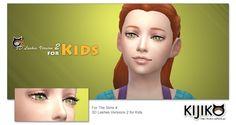 3D Lashes Version2 for Kids at Kijiko � Sims 4 Updates