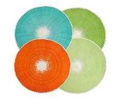 Set di 4 tovagliette in plastica Color - D 38 cm