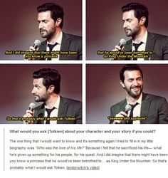 What would you ask Tolkien about your character and your story if you could? - This just makes me love Richard Armitage even more.