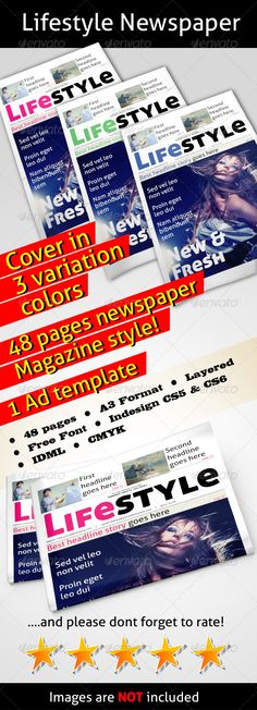 Lifestyle Newspaper - Newsletters Print Templates Download here : http://graphicriver.net/item/lifestyle-newspaper/4398019?s_rank=344&ref=Al-fatih