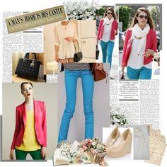 Jessica Alba style, created by mariemvs on Polyvore