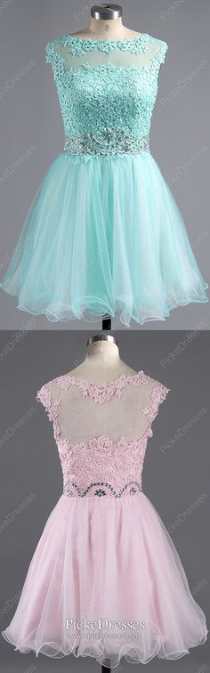 Modest Formal Dresses Short, Blue Homecoming Dresses Elegant, Cheap Prom Dresses A Line, Tulle Sweet Sixteen Dresses With Beading Simple Formal Dresses, Formal Dresses For Teens, Dresses Short, Formal Dresses For Weddings, Formal Evening Dresses, Vintage Homecoming Dresses, Cute Homecoming Dresses, Graduation Dresses, Party Dresses