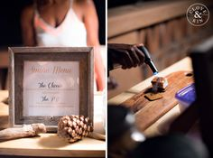 Gourmet S'mores bar = our favorite dessert bar ever! So creative!  Rancho Valencia Wedding | Holly and Brian, Photography by Clove & Kin. View More: http://cloveandkin.com/blog/rancho-valencia-wedding-holly-brian/