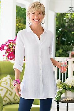 WASHED LINEN SHIRT from Soft Surroundings