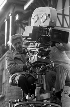 Alain Resnais with camera