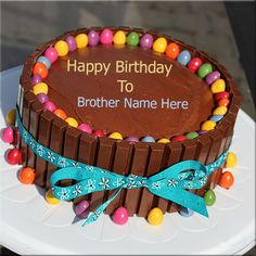 Happy birthday cake with name images and pictures happy birthday through the thousands of pictures on the net with regards to birthday cake brother we choices the best selections using greatest quality just for you publicscrutiny Images