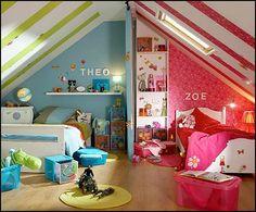 Boy and girl shared room idea