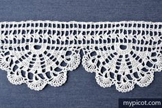 MyPicot | Free crochet patterns - Crochet Edging Pattern (pic. 1 of 2)