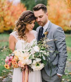 This gorgeous bouquet is one of my all time favorites and a perfect example of an unexpected and fabulous fall bouquet!