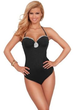 CLICK IMAGE TWICE FOR INFO AND PRICE :) #bikini #bikinis #swimsuit #swimsuits #womens #swimwear #onepiece #onepieceswimsuit SEE MORE variety of the one piece swimsuit at http://zbikinis.com/category/bikini-categories/one-piece-swimsuit/ - Adjustable One Piece Bathing Suit Halter Floral Ruffle Sleek Slimming Swimwear « zBikinis.com