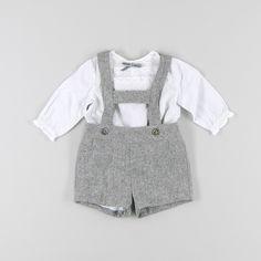 Conjunto pantalón con tirantes y blusa ml de color Gris de marca Karpi
