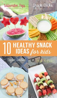 10 Healthy Kids Snack Ideas - I love finding fun ways to incorporate fruits and veggies into snack time! Lot's of simple and healthy snack ideas for the kiddos! Click through to see them all!