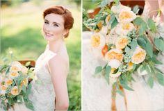 peach and green wedding bouquet <3<3 ADD diy green wedding www.customweddingprintables.com