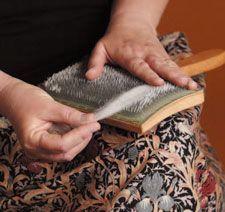 Learn an expert approach to hand carding wool.