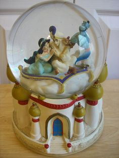 Disney Aladdin's A Whole New World Musical Snow Globe