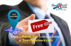 Enjoy #lifetime #free business listing @http://www.searchrunners.com/FreeListing
