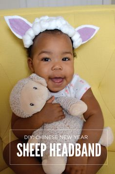 Celebrate Chinese New Year and the Year of the Sheep with this cute DIY headband made with simple supplies from @walmart