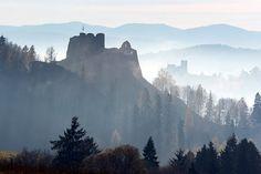 Polska - Ruiny, ale jakie piekne!  Czorsztyskie zamczysko -twierdza Kazimierza Wielkiego