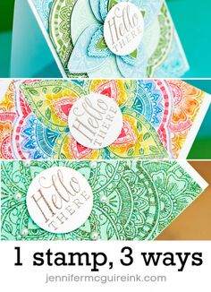 Video of 1 Background Stamp 3 Ways by Jennifer McGuire Ink