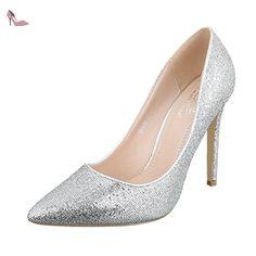 Ital-Design , chaussures compensées femme - argent - Silber 5015-59, - Chaussures ital design (*Partner-Link)