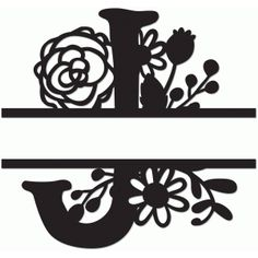 Silhouette Design Store - View Design #64206: split monogram j