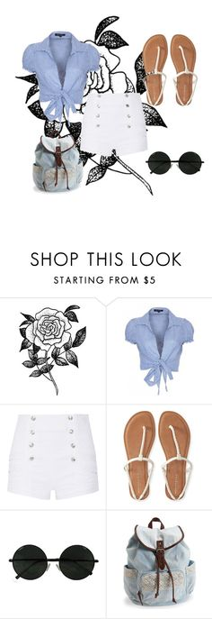 """""""Untitled #190"""" by jessee-97 on Polyvore featuring Forever 21, QED London, Pierre Balmain and Aéropostale"""