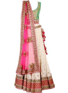 mint green blouse with white lehenga and pink dupatta, sister of the groom, brides friend,Frontier Raas-Bridal Wear Indian Bridal Wear, Indian Wedding Outfits, Pakistani Outfits, Indian Wear, Indian Outfits, Bride Indian, Mehendi Outfits, Pakistani Bridal, Wedding Dresses