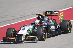 Mexican driver Sergio Perez of Sahara Force India F1 during the qualifying round of the United States Formula One Grand Prix at the Circuit of the Americas track in Austin, Texas, November 1, 2014