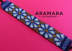 Mexican Huichol Loom Beaded Peyote Bracelet PT-0017 by Aramara