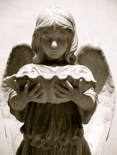 Savannah Cemetery Tomb Statue - Angel with Shell, by sibyllinephotography