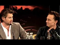 Chris Hemsworth's personal trip on Tom Hiddleston. It's okay, Chris, Tom is a sexy beast, sometimes it just can't be helped.