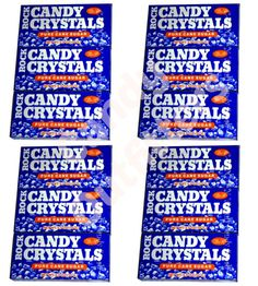 ROCK CANDY CRYSTALS - WHITE PURE CANE SUGAR - 12 Boxes - Old Fashioned Candies