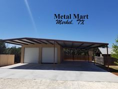 Contact your local Metal Mart store to ask about your bolt up or weld up kit today! Metal Pole Barns, Metal Roof, Shop Buildings, Steel Buildings, Metal Mart, Carport Covers, Barn Shop, Barn House Plans, Shed Homes