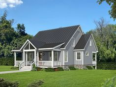 062H-0255: Mountain House Plan Designed for a View Duplex House Plans, Best House Plans, Porch Storage, Floor Plan Drawing, Stair Detail, Mountain House Plans, Construction Cost, House Stairs, Flat Roof