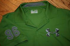 Under Armour Heat Gear 96 Regular Polo Shirt Men's Medium golf sports green #UnderArmour #ShirtsTops