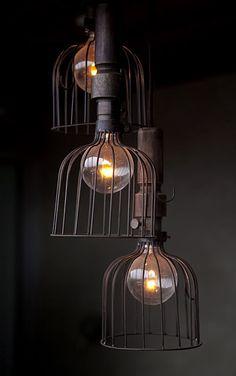 lamparas de jaula - vintage