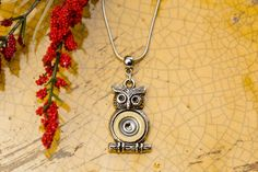 Bullet Jewelry  Owl Necklace 410 by RicochetRounds on Etsy