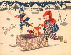 Playing, by Kiyoshi Ssaito, 1952