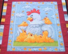 Baby Quilt, Pippa and her chicks. home made. by TheQuiltedCheese on… Baby Quilts, Kids Rugs, Homemade, Unique Jewelry, Handmade Gifts, Cotton, Etsy, Vintage, Home Decor