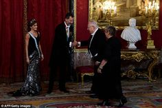 Queen Letizia and King Felipe hosted a dinner in honour of the President and First Lady of Israel