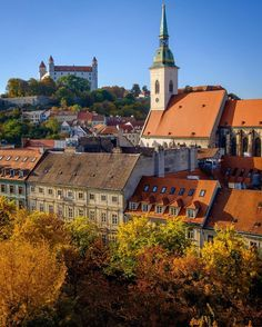 Bratislava Slovakia, Most Beautiful Cities, Central Europe, Hungary, Poland, Places To Visit, Castle, Tours, London