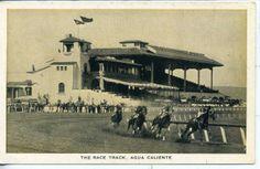 calyenti race track mexico   Tiajuana Hot Springs Old Mexico Agua Caliente Horse Race Track Racing