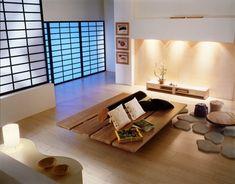 Schon Feng Shui Wohnzimmer Einrichten Modern Minimalistisch Holz Sitzinsel